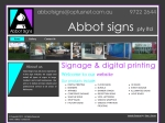 View More Information on A Abbot Signs