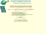 View More Information on Accurate Translations Pty Lty