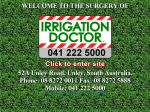 View More Information on Adelaide Irrigation Doctor