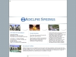 View More Information on Adelphi Springs