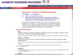 View More Information on Alderley Business Machines