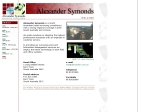 View More Information on Alexander Symonds, Kent town