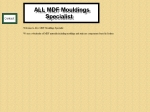 View More Information on All MDF Mouldings Specialist