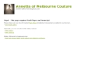 View More Information on Annette Of Melbourne Bridal Couture