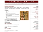 View More Information on Anthonys Solicitors, Mill park