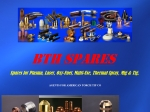 View More Information on B T H Spares