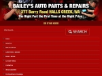 View More Information on Bailey's Auto Parts, Halls Creek