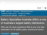 View More Information on Battery Specialties, Townsville