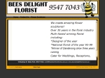 View More Information on Bees Delight Florist Pty Ltd