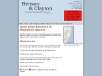 View More Information on Benson & Clayton