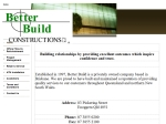 View More Information on Better Build Constructions Pty Ltd, Enoggera