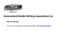 View More Information on Blind-Queensland Braille Writing Association