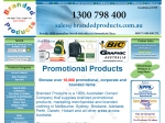 View More Information on Branded Products Pty Ltd