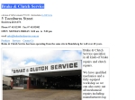 View More Information on Brake & Clutch Service