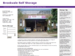 View More Information on Brookvale Self Storage