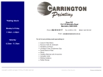 View More Information on Carrington Printing
