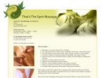 View More Information on That's The Spot Massage