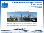 View More Information on Central Plumbing Services Pty Ltd