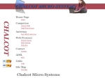 View More Information on Chalcot Micro Systems