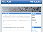 View More Information on Chartered Institute Of Building Australia (CIOB)