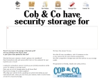 View More Information on Cob & Co Security Storage