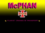 View More Information on McPhan Cranes & Transport