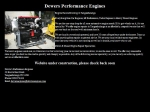 View More Information on Dewar's Performance Engines
