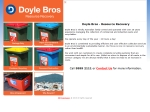 View More Information on Doyle Bros Waste & Recycling