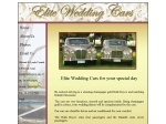 View More Information on Elite Wedding Cars