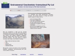 View More Information on Environmental Geochemistry Int Pty