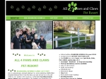 View More Information on All 4 Paws and Claws Pet Resort