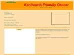 View More Information on Friendly Grocer, Kenilworth