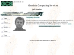View More Information on Geodata Computing Services