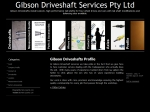 View More Information on Gibson Driveshaft Services Pty Ltd
