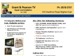View More Information on Grant & Pearson TV Repairs