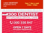 View More Information on 1300 DENTIST