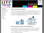 View More Information on High Tech Printing Services Pty Ltd