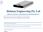 View More Information on Holman Engineering Pty Ltd