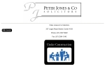 View More Information on Jones Peter & Co