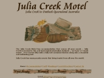 View More Information on Julia Creek Motel