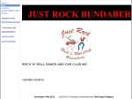 View More Information on Just Rock Bundaberg Rock 'N' Roll Dance & Car Club Inc.