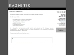 View More Information on Kaznetic