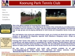 View More Information on Koonung Park Tennis Club