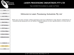 View More Information on Laser Processing Industries Pty Ltd