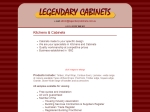 View More Information on Legendary Cabinets