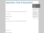 View More Information on MacArthur Tree & Excavations, Appin