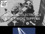 View More Information on Macsound Theatrical Supplies