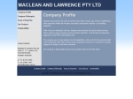 View More Information on Maclean & Lawrence Pty Ltd