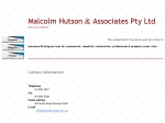 View More Information on Malcolm Hutson & Associates Pty Ltd