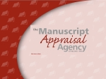 View More Information on Manuscript Appraisal Agency